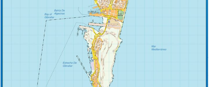 Gibraltar Downtown Map