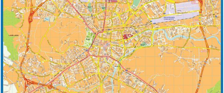 Liubliana Downtown Map