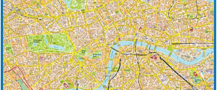 Map Downtown London.London Map Wall Maps Of The World