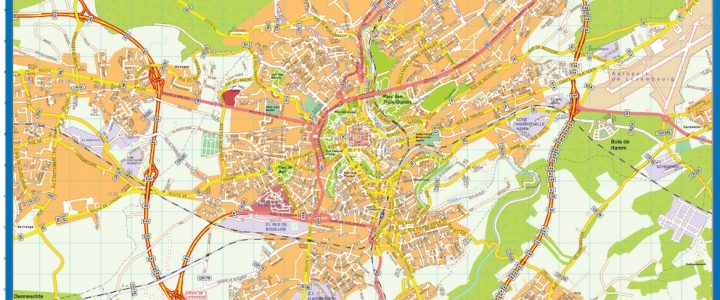 Luxembourg Downtown Map