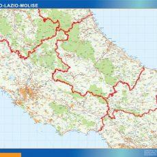 Map of Abruzzo Lazio Molise