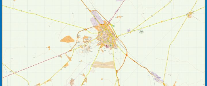 Map of Albacete Area