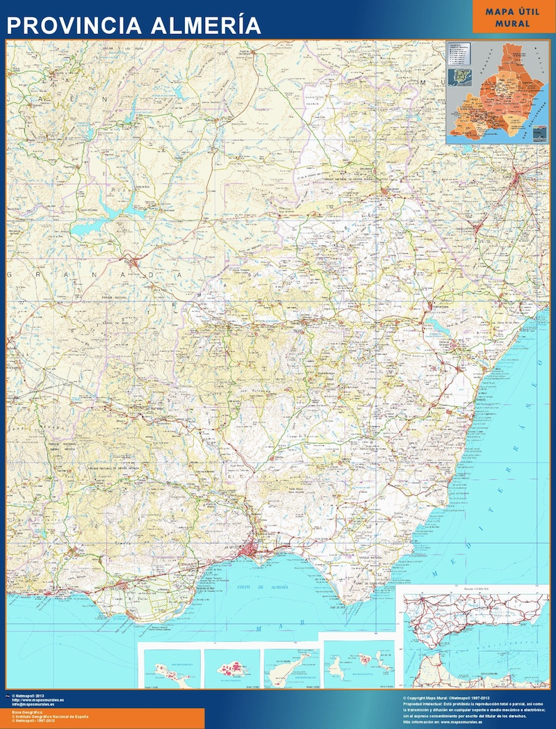 World wall maps store map of almeria more than 10 000 maps map of almeria gumiabroncs Gallery