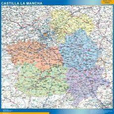 Map of Castilla La Mancha