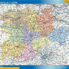 Map of Castilla y Leon