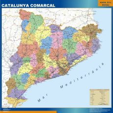 Map of Cataluna Comarcal