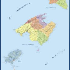 Map of Islas Baleares Comarcal