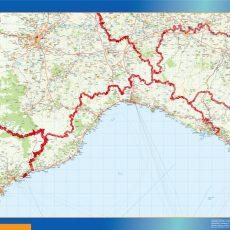 Map of Liguria