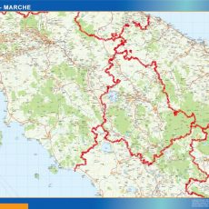 Map of Marche