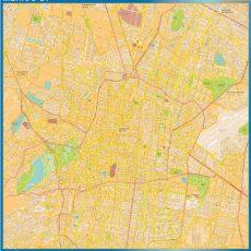 Map of Mexico Df Centro