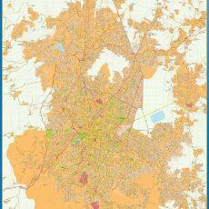 Map of Mexico Distrito Federal