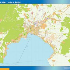 Map of Palma Mallorca Area