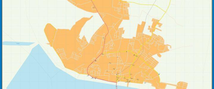Map of Porto Novo