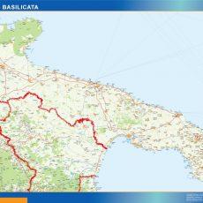 Map of Puglia Basilicata