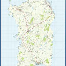 Map of Sardegna