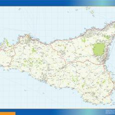 Map of Sicilia
