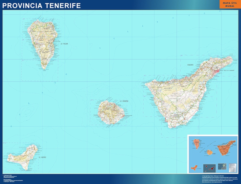 World Wall Maps Store: Map of Tenerife . More than 10 000 maps ...