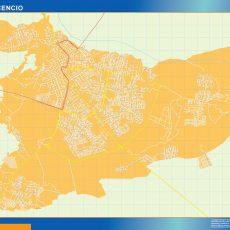 Map of Villavicencio