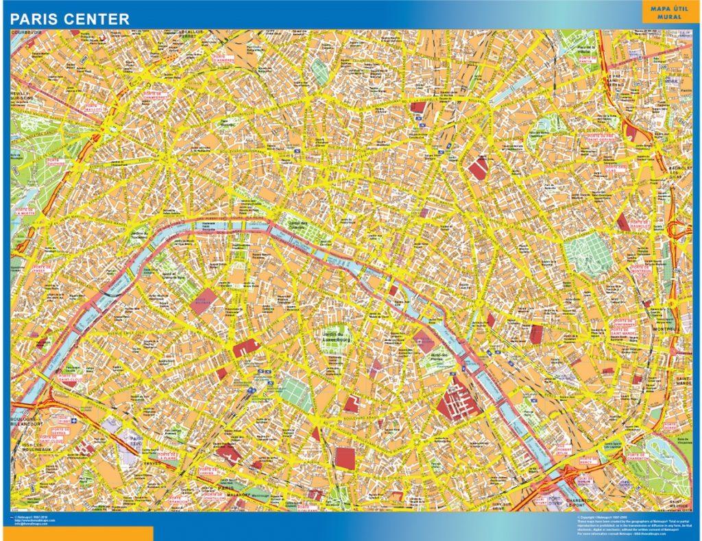 Paris Downtown Map