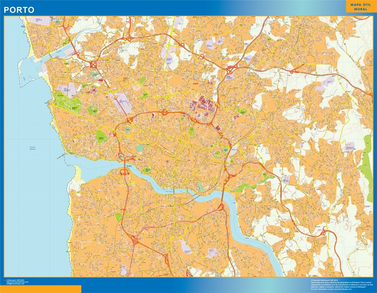 Look Our Special Porto Street Map World Wall Maps Store
