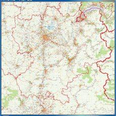 Rhone Alpes Map