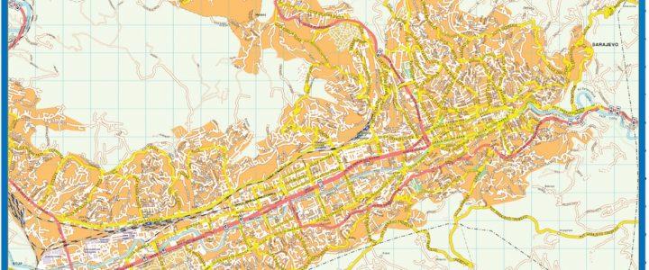 Sarajevo Downtown Map