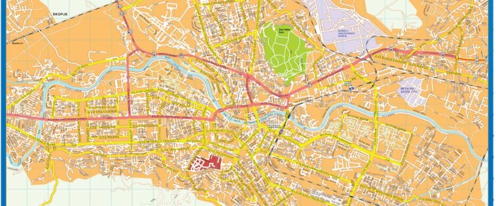 Skopje Downtown Map
