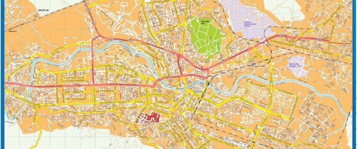 Skopje Downtown Map