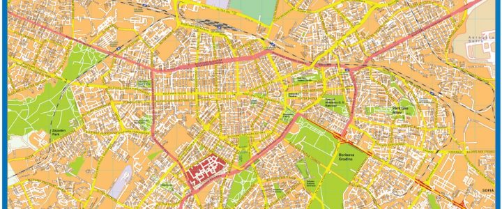 Sofia Downtown Map