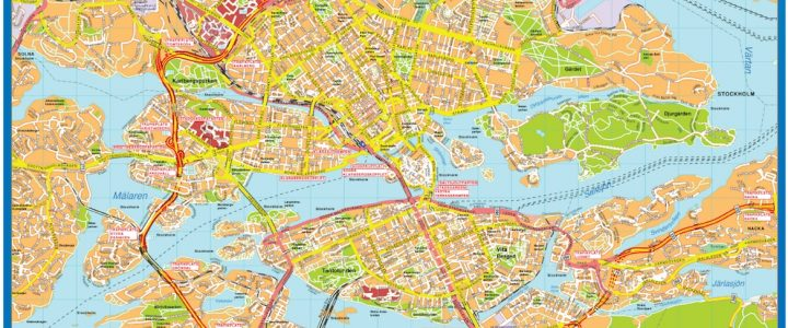 Stockholm Downtown Map