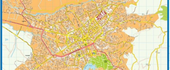 Tirane Downtown Map