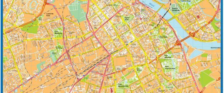 Warsaw Downtown Map