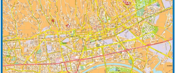 Zagreb Downtown Map