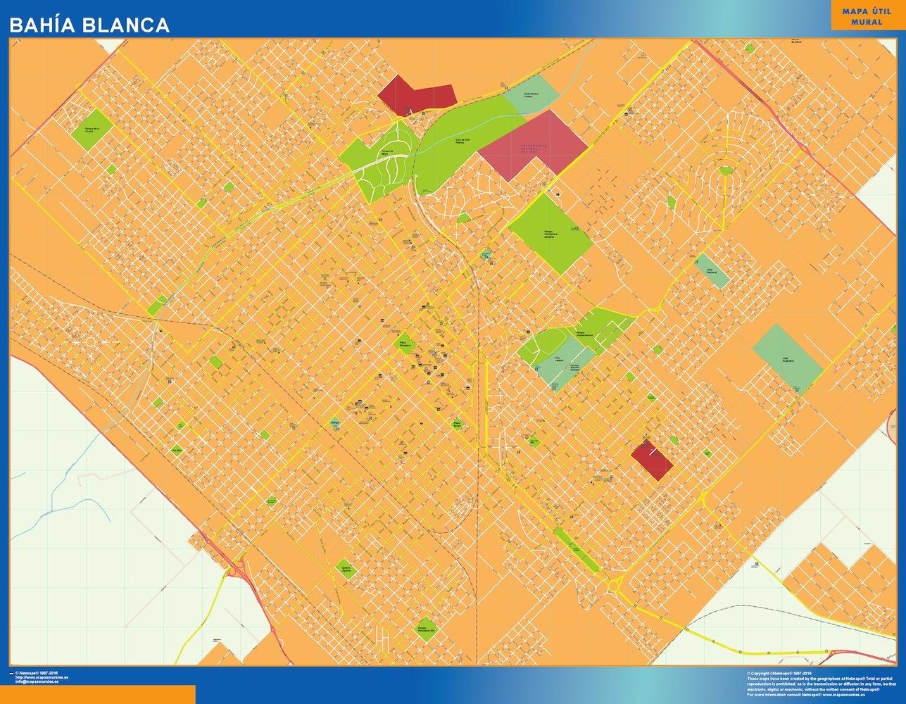 World Wall Maps Store Citymap Bahia Blanca Argentina Maps More - Argentina map bahia blanca