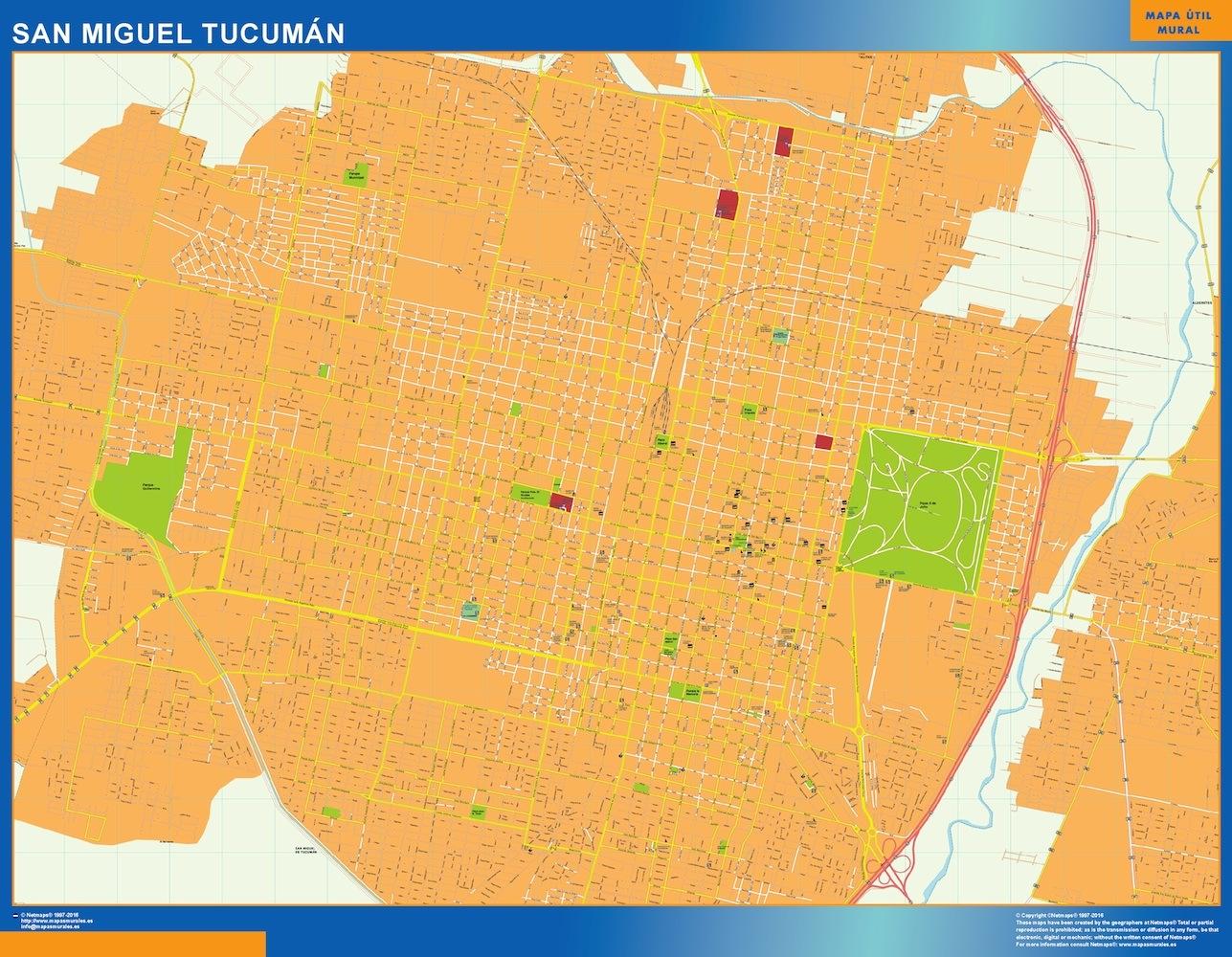 World Wall Maps Store Citymap San Miguel Tucuman Argentina Maps - Argentina map tucuman