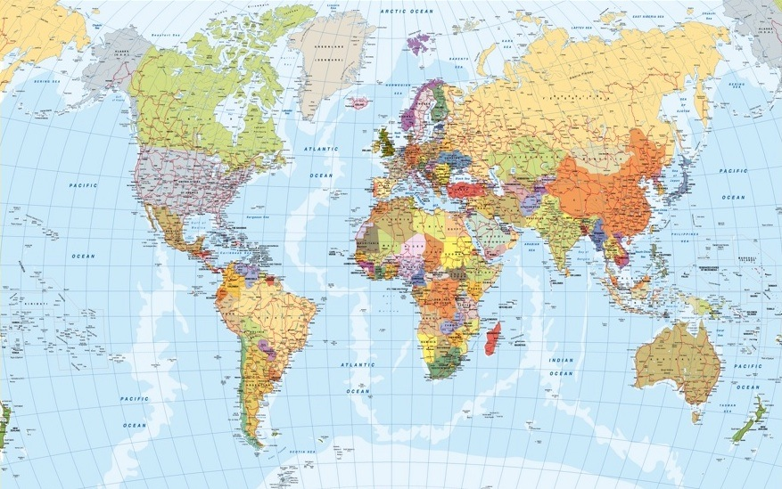 Our EMEA Region Map Wall Maps Mapmakers offers poster