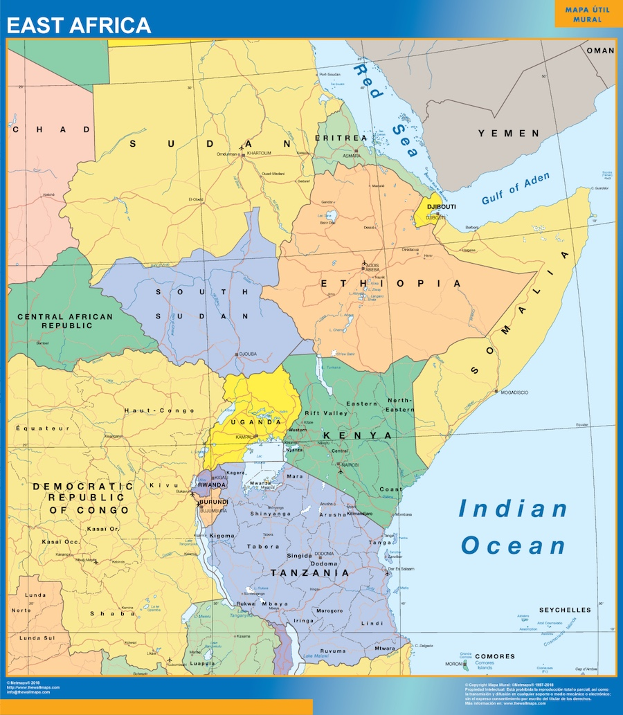The Map Of East Africa | Jackenjuul